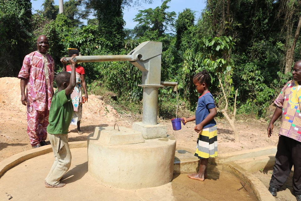 Clean water from the pump