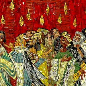 Pentecost Disciples Mosaic