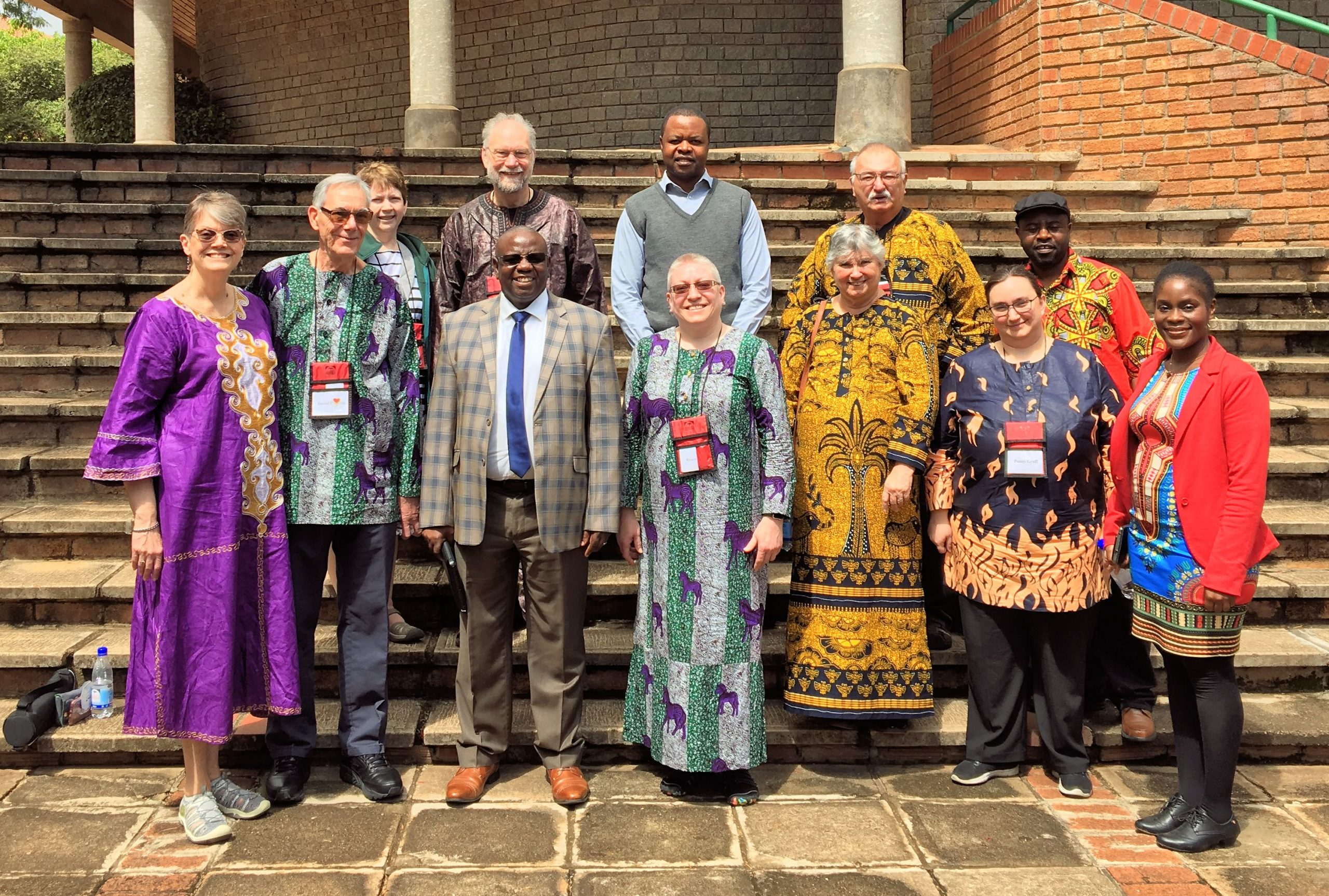 Leaders of AU in Zimbabwe welcome Michigan guests.