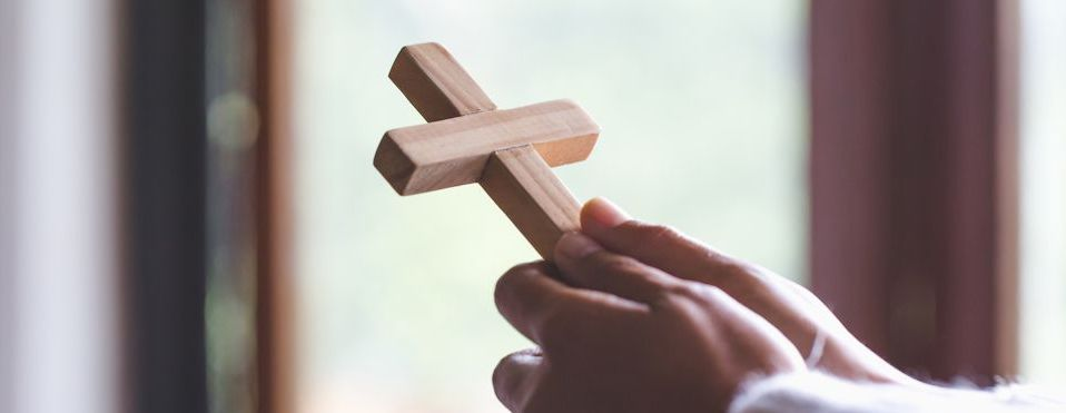 Hands with Cross for Lent