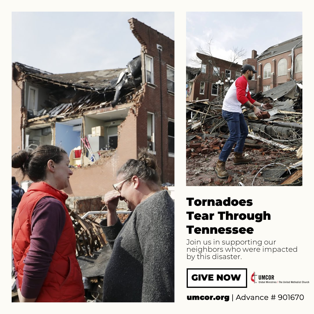 UMCOR respondes to Tennessee tornadoes