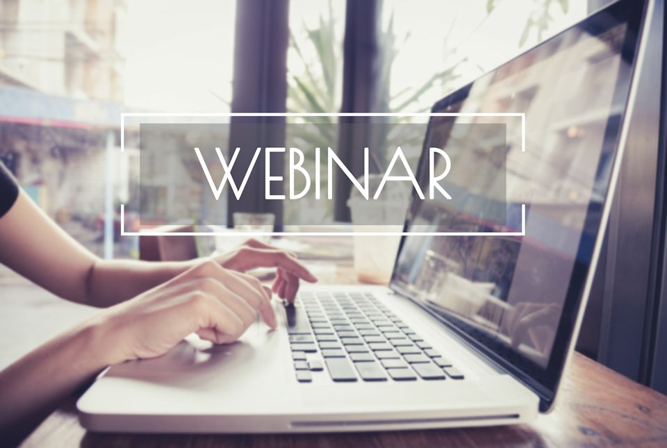 Online learning through webinars