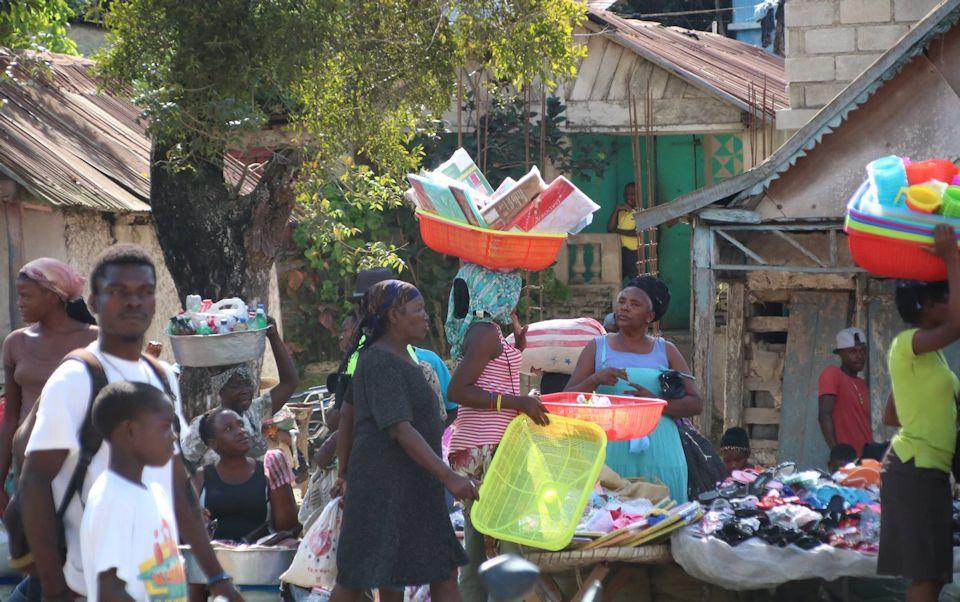 Busy market in Jeremie Haiti