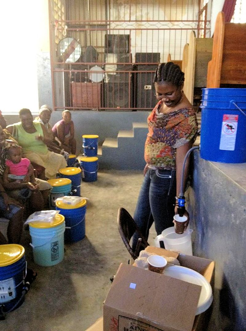 Covenant Partners work with water filtration in Jeremie, Haiti