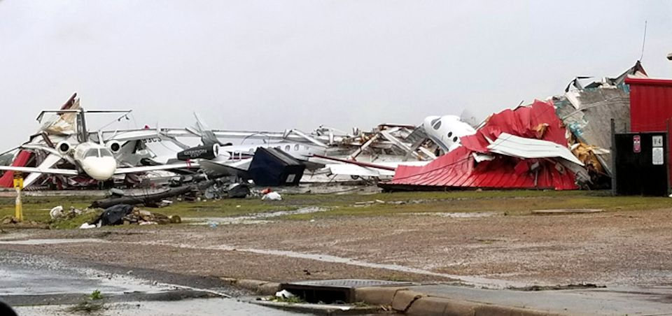 Louisiana airport destroyed