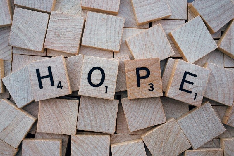 scrabble letters hope