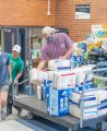 Supplies for those affected by flood water