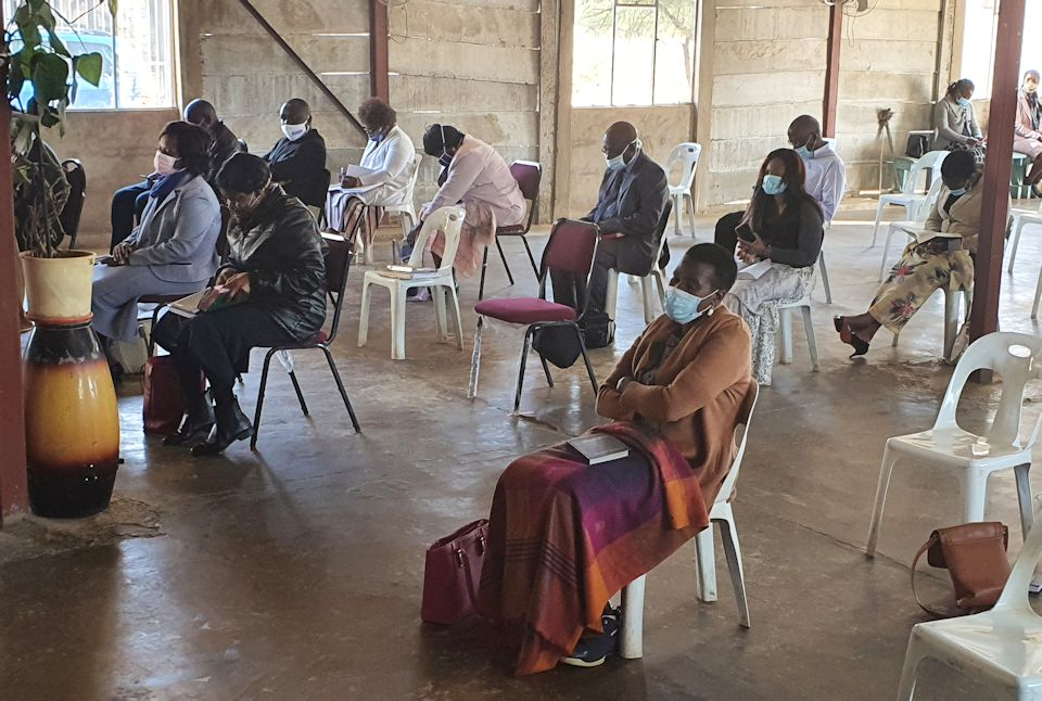 Churches in Africa return to worship.