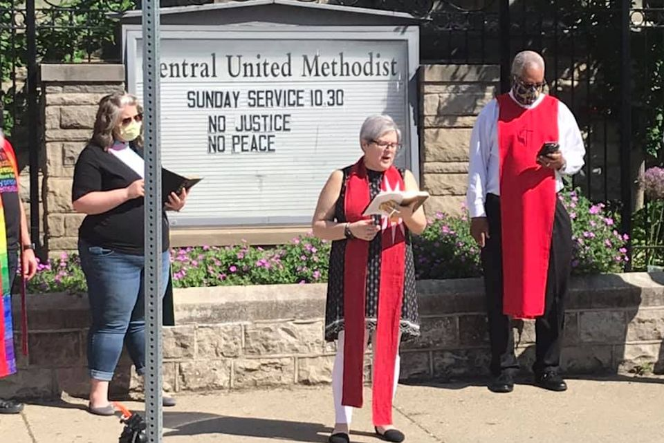 Antiracist witness at Detroit Central UMC