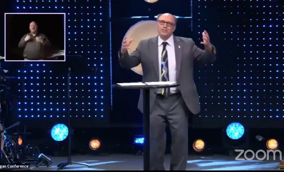 Bishop Bard preaching