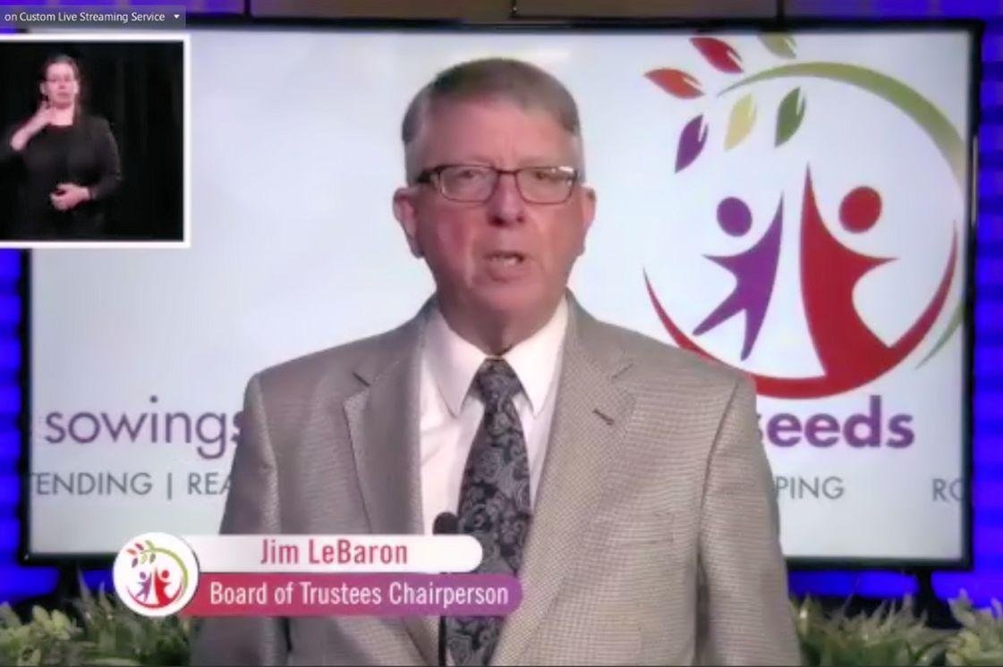 Jim LeBaron on the virtual AC screen