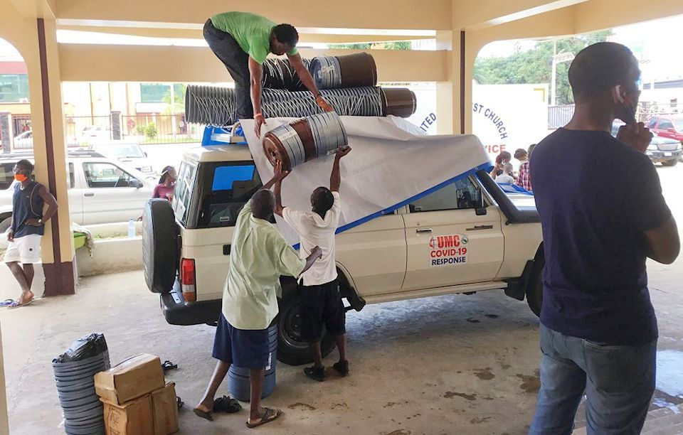 COVID and Food supplies shared in Liberia