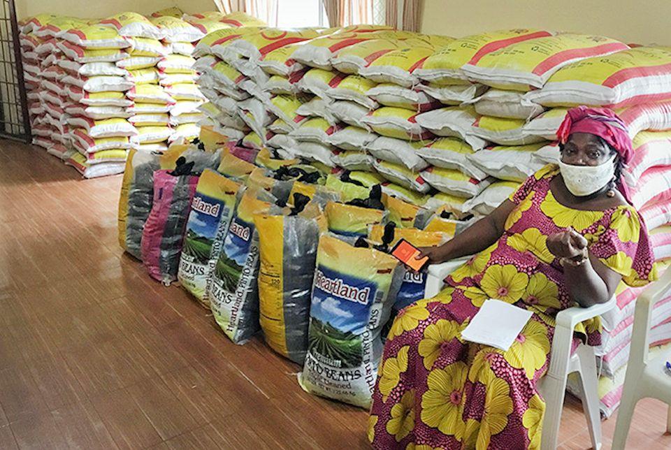 Food distribution in Liberia