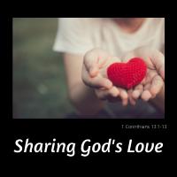 Sharing God's Love Button