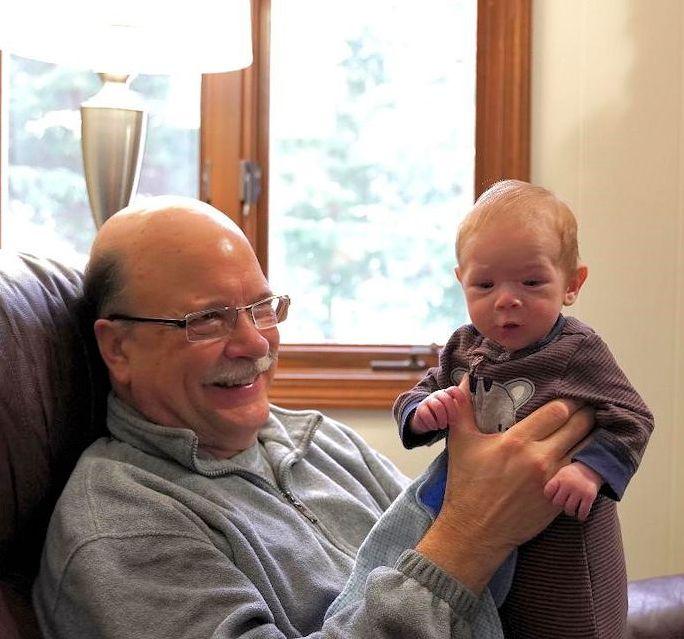 Glenn Wagner with grandson
