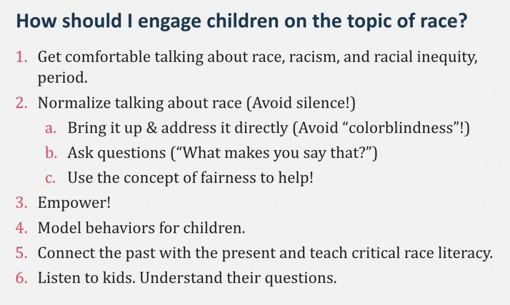how to engage children in conversation about race