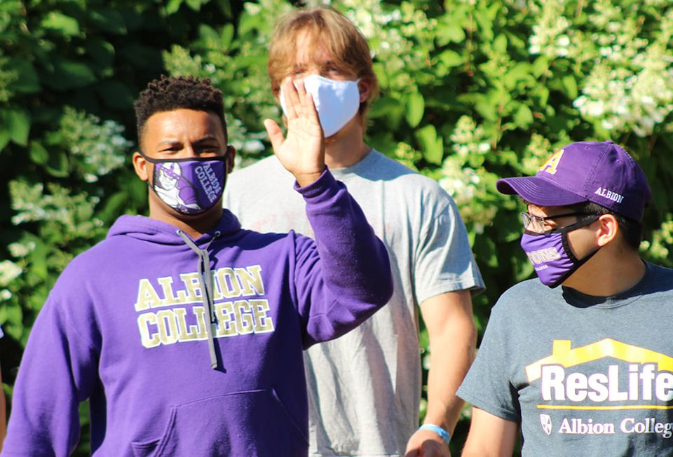 Students return to Albion College, one of 117 UM-related schools in the U.S>