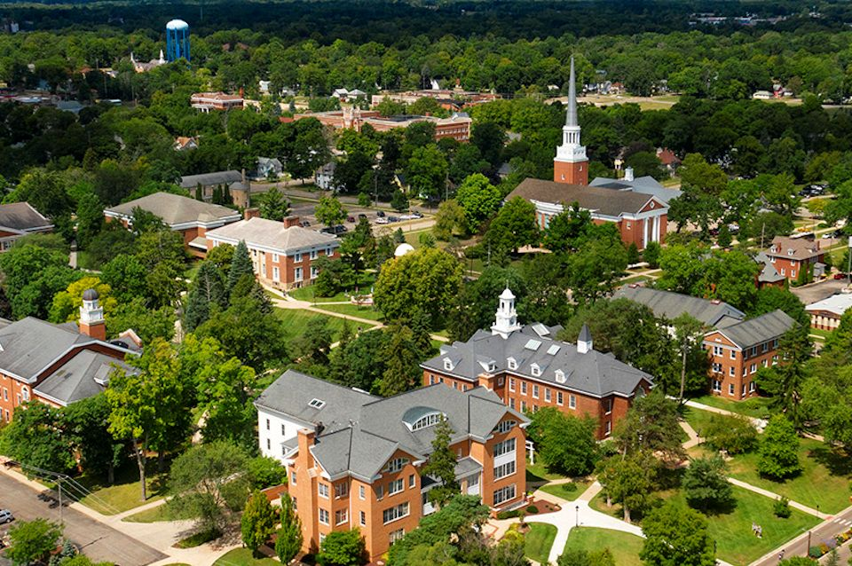 Albion College sky view