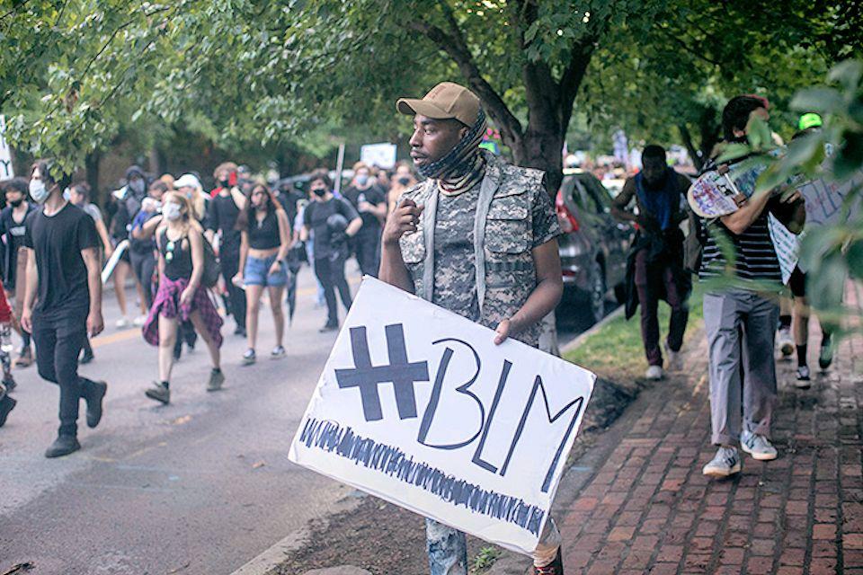 Black Lives Matter protest in June 2020