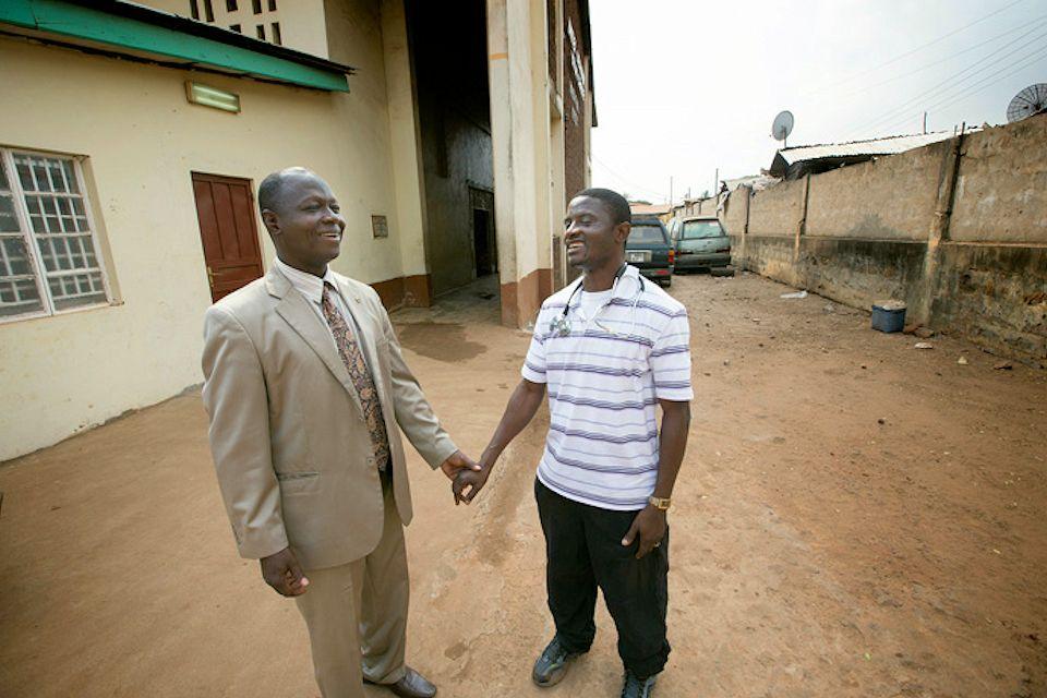 Yambasu with doctor in Freetown.