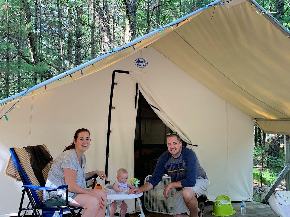 Platform Tent Lake Michigan Camp