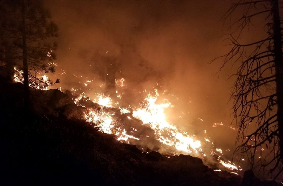Wildfire advancing in CA