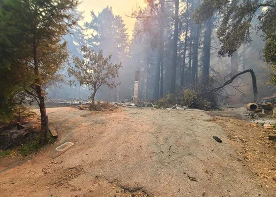 Wildfire leaves a family homeless