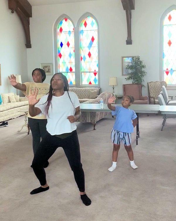 Dancing at Flint Calvary UMC