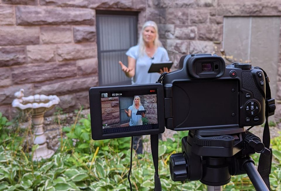 Filming podcast worship in Marquette