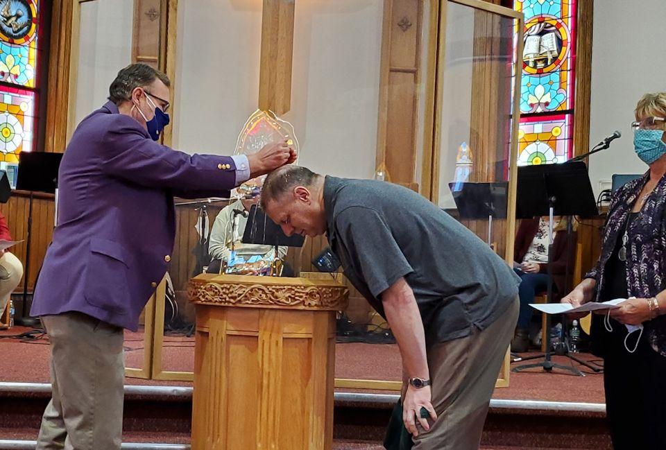 Baptism at Otsego UMC