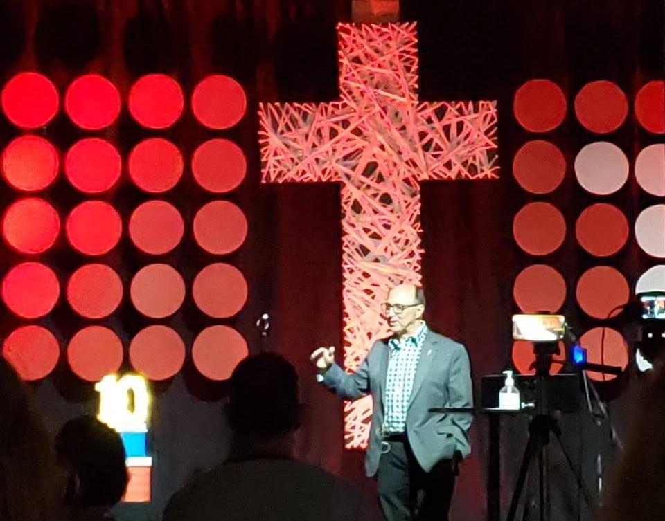 Bishop visits Valley on Oct. 11, 2020.