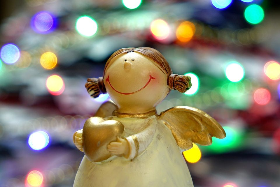 Christmas angel offering hope