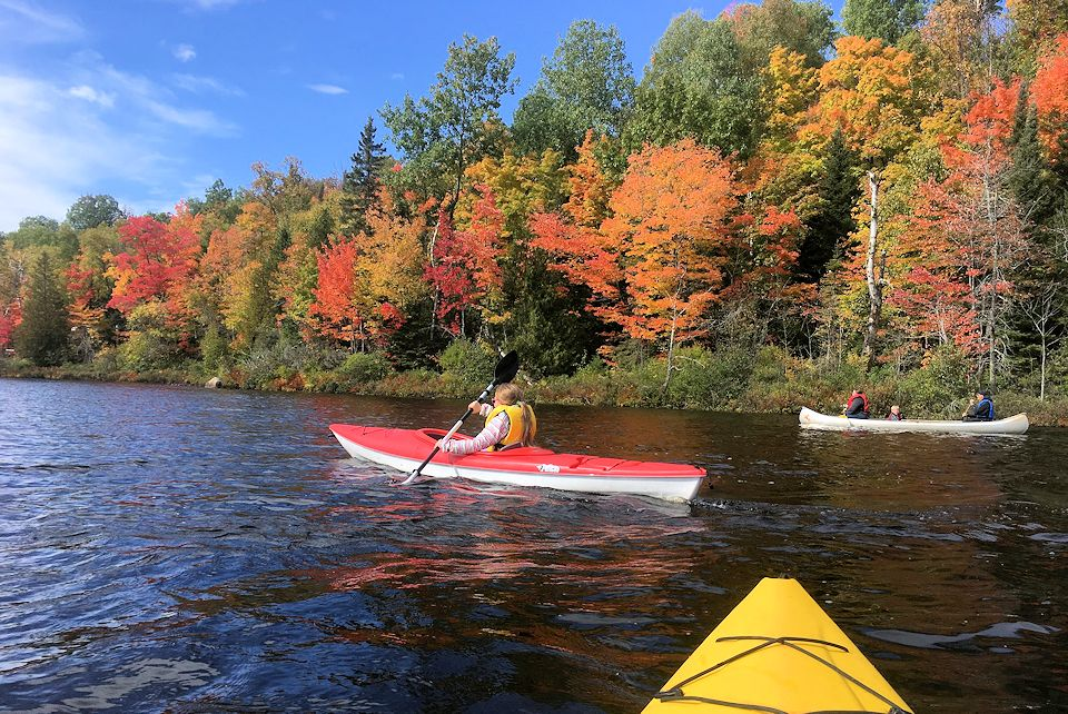 Michigamme kayakers