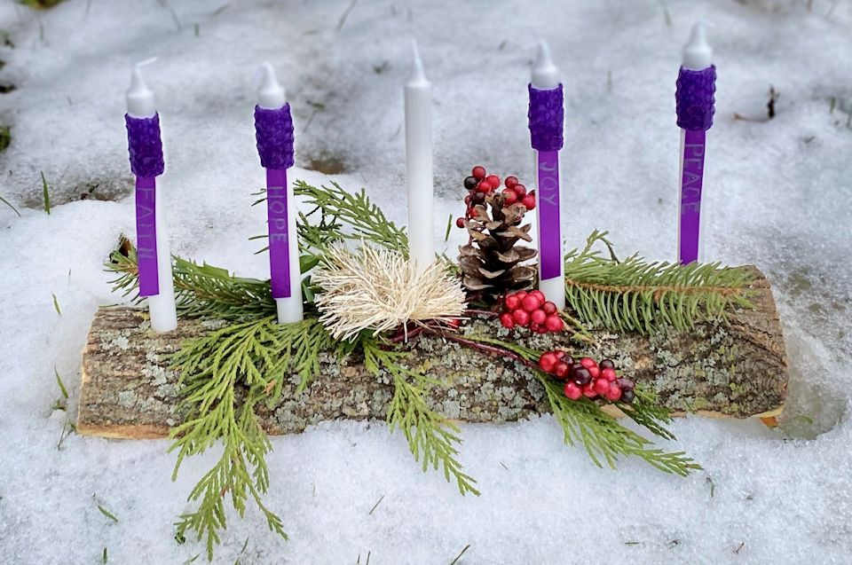 Handmade Advent Candles for time of coronavirus