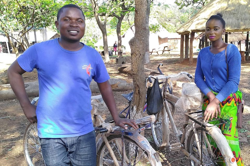 Bicycles for Mujila Falls in Zambia