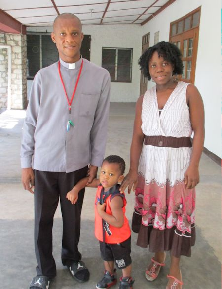 Haitian pastor and family