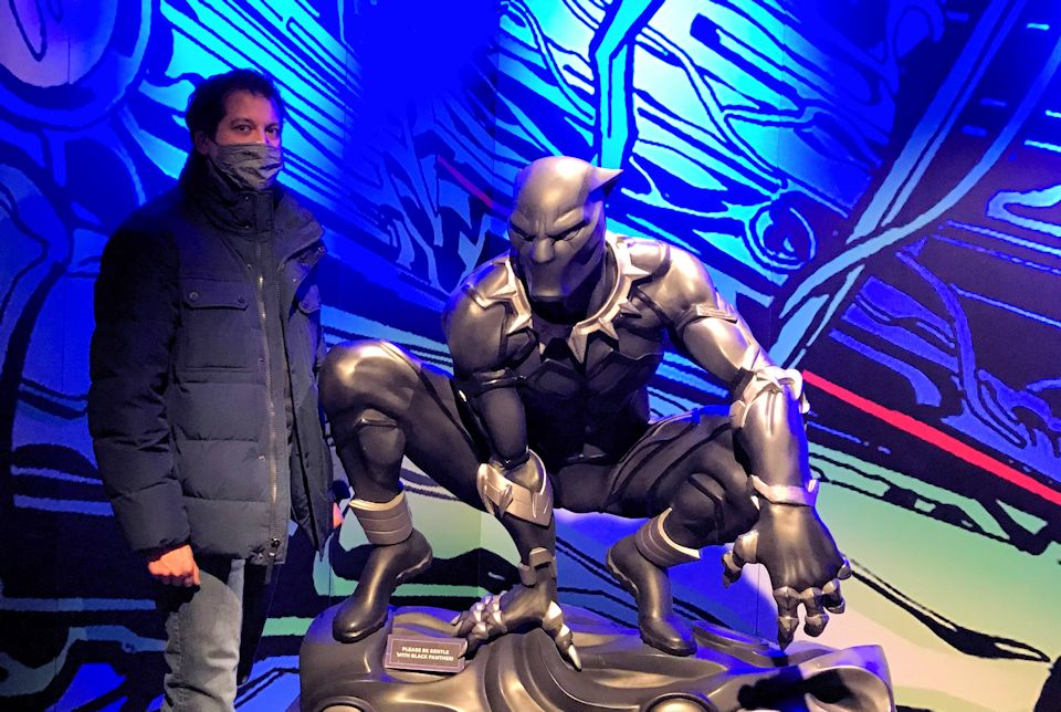Paul Perez with Black Panther