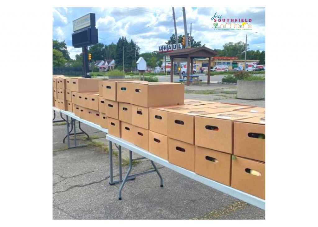Joy Southfield Food Box Distribution