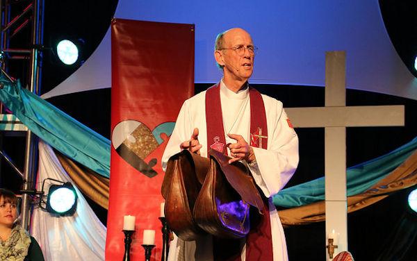 Bishop John Hopkins at 2016 Jurisdictional Conference in Peoria, IL.