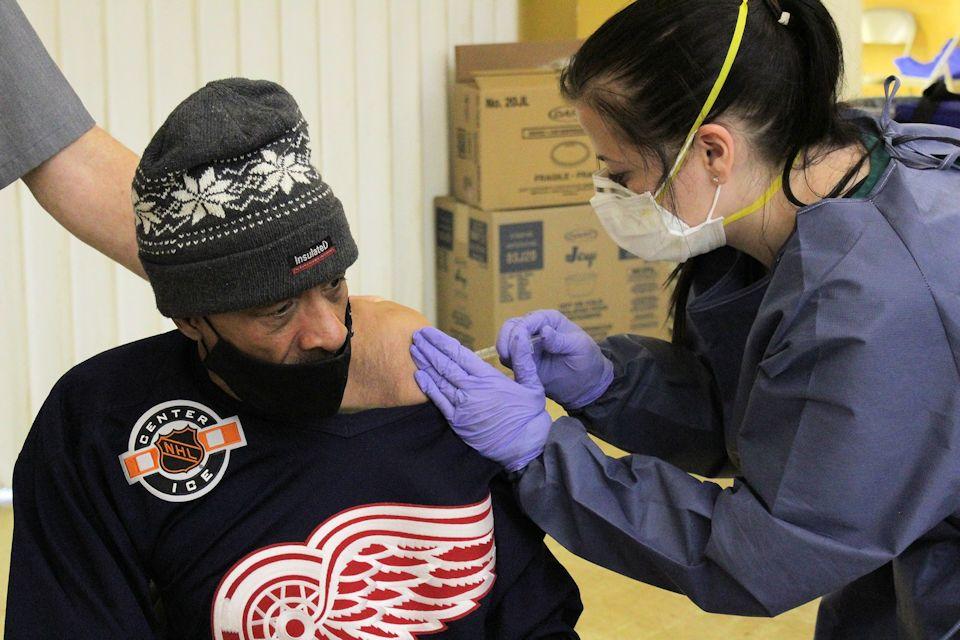 Vaccinations at NOAH Project Detroit.