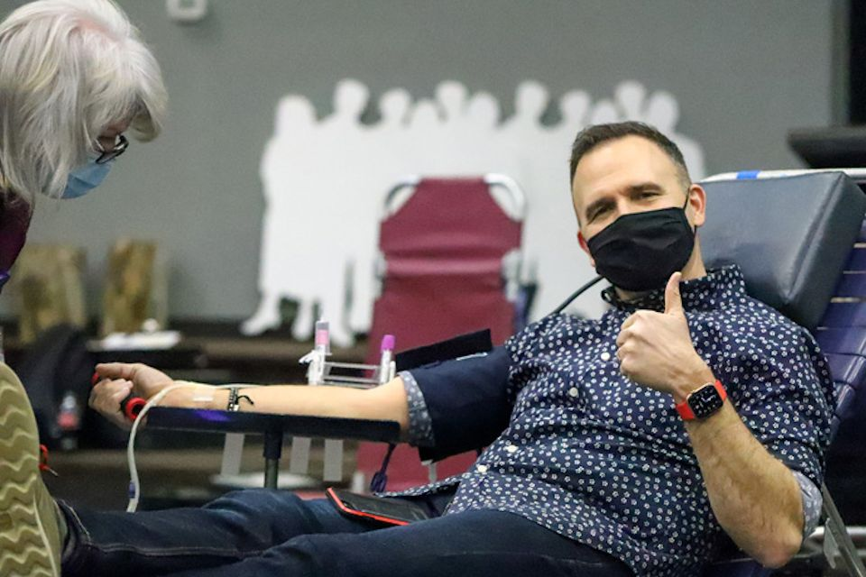 Care for others with blood donation