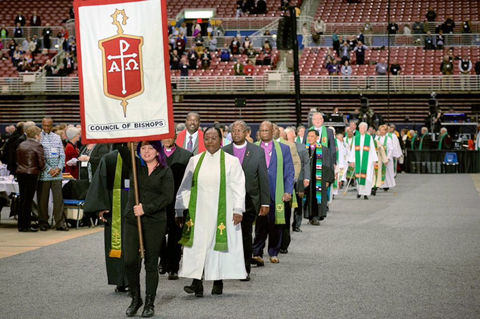 COB march at 2019 General Conference in St. Louis