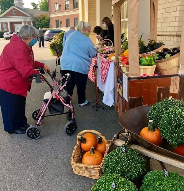 Seniors enjoy shopping.