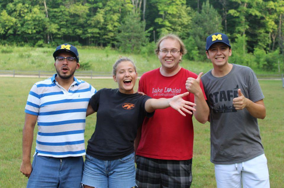Summer staff offers hospitality
