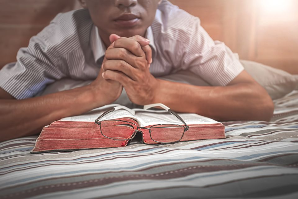 Youth connected with Bible and Zoom