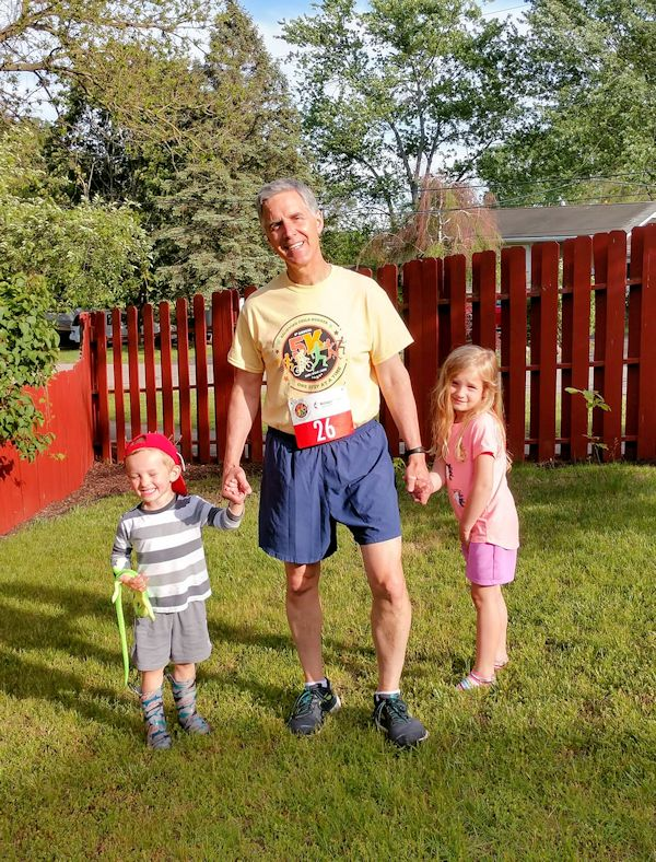 Grandpa and kids for 5K
