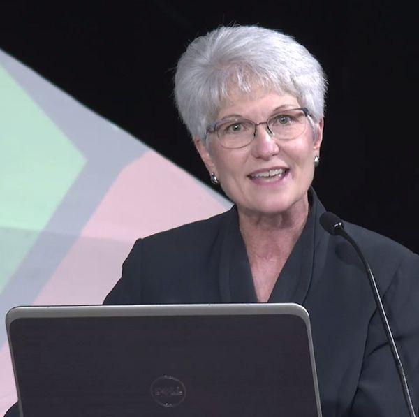 Rev. Joy Barrett kept action clear