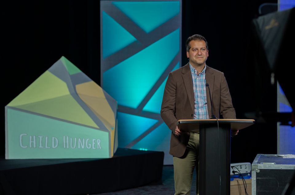 Paul Perez calls the conference to action on hunger