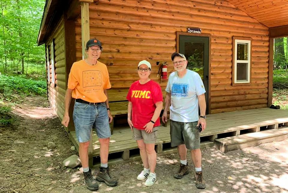 Volunteers at Wesley Woods, one of Michigan's three camps