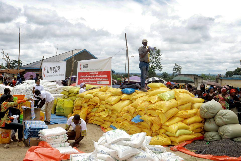 Relief supplies for Congo